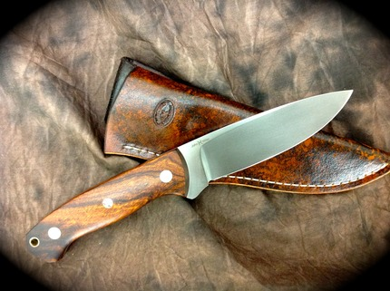 Large Drop Point Hunter Pinnacle Mountain Custom Knives Llc